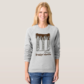NYC Valentine's Day Brooklyn Bridge Sweatshirt