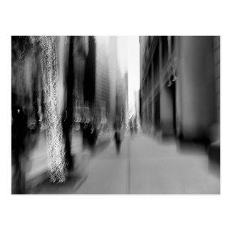 NYC Vertical B&W Blur Postcard
