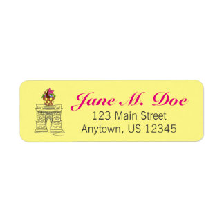 NYC Washington Square Arch Easter Basket Labels