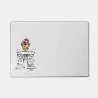 NYC Washington Square Arch Easter Basket Post Its Post-it Notes