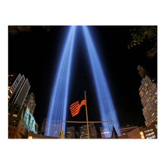 NYC World Trade Center's Tribute in Lights Postcard