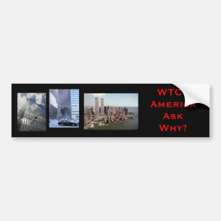 nyc, wtc7, wtc77, WTC7AmericaAsk Why? Bumper Sticker