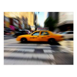 NYC Yellow Taxi Blur Postcard