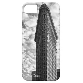 NYC's Flatiron Building, Cotton Ball Clouds BW iPhone 5 Covers