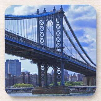 NYC's Manhattan Bridge A2 Beverage Coasters