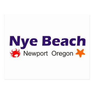 Nye Beach Newport Oregon Postcard
