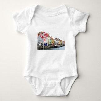 Nyhavn canal in Copenhagen, Danmark Baby Bodysuit