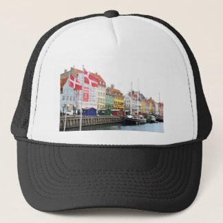 Nyhavn canal in Copenhagen, Danmark Trucker Hat