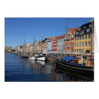 Nyhavn,Copenhagen in Denmark Card