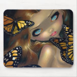 """""""Nymph with Monarchs"""" Mousepad"""