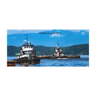 NYS Marine Highway Tugs: Nathan G. & Sarah D. On T Canvas Print