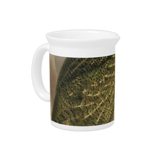 NZ Birds - Kakapo Semi-Abstract Pitcher