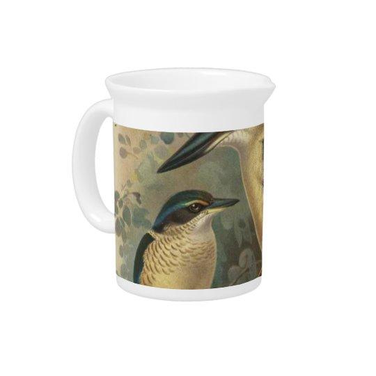 NZ Birds - NZ Kingfishers Semi-Abstract Pitcher