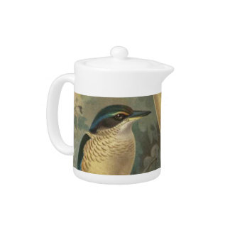 NZ Kingfisher Semi-Abstract Teapot