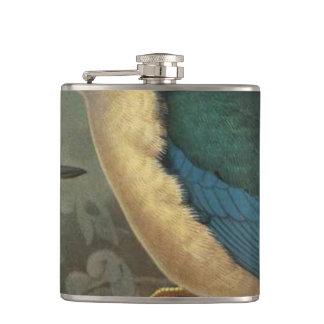 NZ Kingfishers Semi-Abstract Flasks