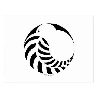 NZ Kiwi / Silver Fern Emblem Postcard