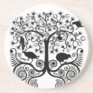 NZ native birds - Sandstone Coaster