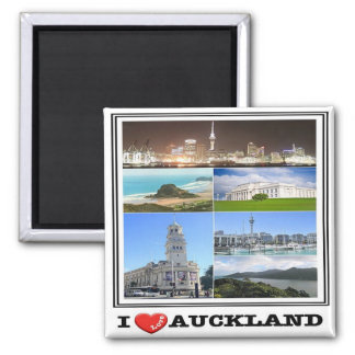 NZ - New Zealand - Auckland - I Love Square Magnet