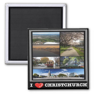 NZ - New Zealand - Christchurch - I Love Magnet