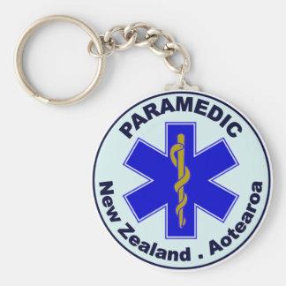 NZ Paramedic Basic Round Button Key Ring