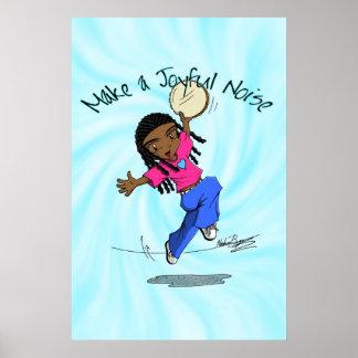 Nzinga - Make a Joyful Noise Blue - POSTER