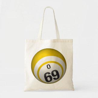 O69 Bingo ball budget tote bag