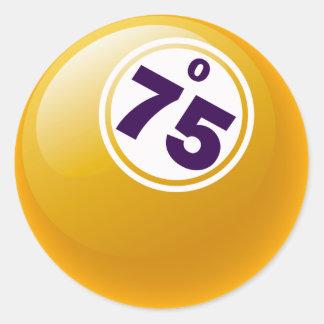 O 75 BINGO BALL CLASSIC ROUND STICKER