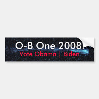O-B One 2008 Starmap Bumper Sticker