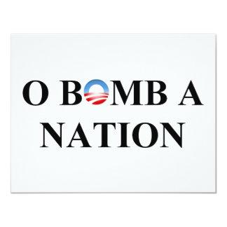 O BOMB A NATION 11 CM X 14 CM INVITATION CARD