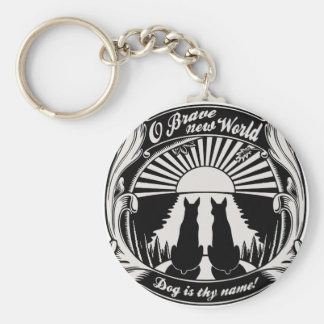 O Brave New World Basic Round Button Key Ring