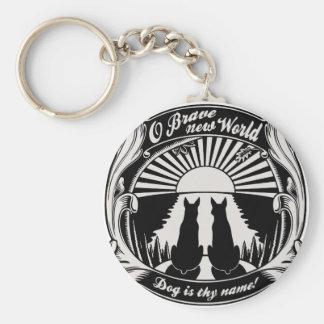 O Brave New World Basic Round Button Key Ring