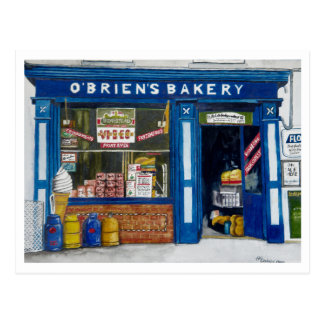 O´Brien`s Bakery Postcard