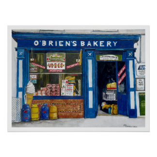 O`Brien´s Bakery Poster