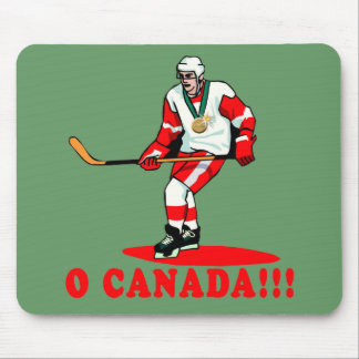 O Canada Hockey Gold Medal Mouse Pad