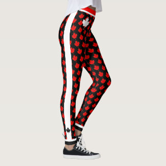 O Canada Maple Leaf on (your color) Leggings