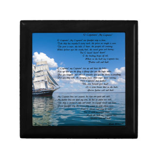 O' Captain, My Captain by: Walt Whitman Small Square Gift Box