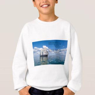 O' Captain, My Captain by: Walt Whitman Sweatshirt