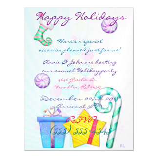 O Chistmas Whimsey Folk Art REMINDER PARTY Magnetic Invitations