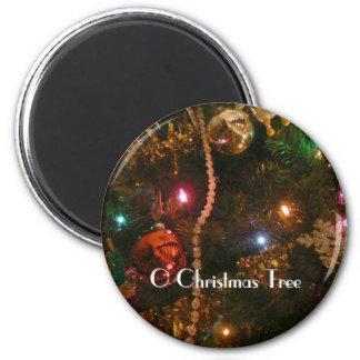 O Christmas Tree 6 Cm Round Magnet