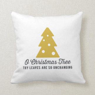 O Christmas tree   Gold Christmas Cushions