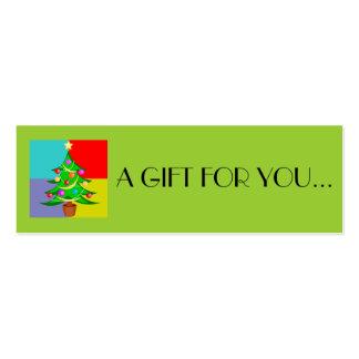 O' Christmas Tree Holiday Gift Tag Business Card Template