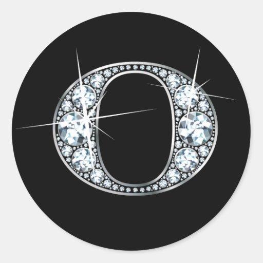 """O"" Diamond Bling Sticker"