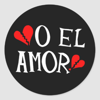 O El Amor Stickers (sheet of 6)