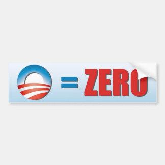 O Equals Zero Bumper Sticker