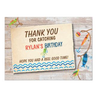 O-Fish-ally Fishing Boys Birthday Thank you card