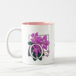 O for Orchids Flower Monogram Coffee Mug