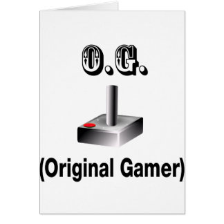 O.G. Original Gamer Card