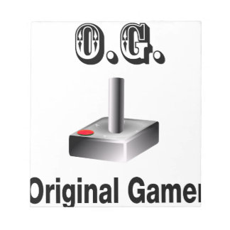 O.G. Original Gamer Notepad