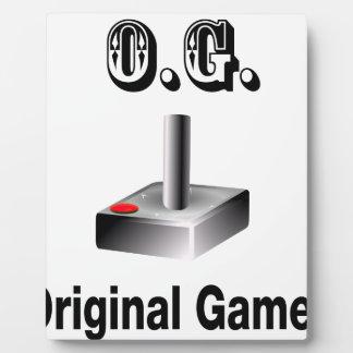O.G. Original Gamer Plaque
