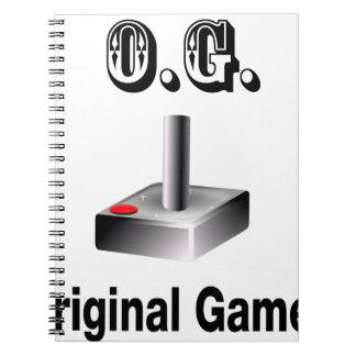 O.G. Original Gamer Spiral Notebook